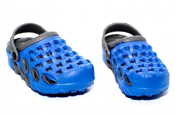 Papuci de plaja copii 1033 albastru negru 30-35