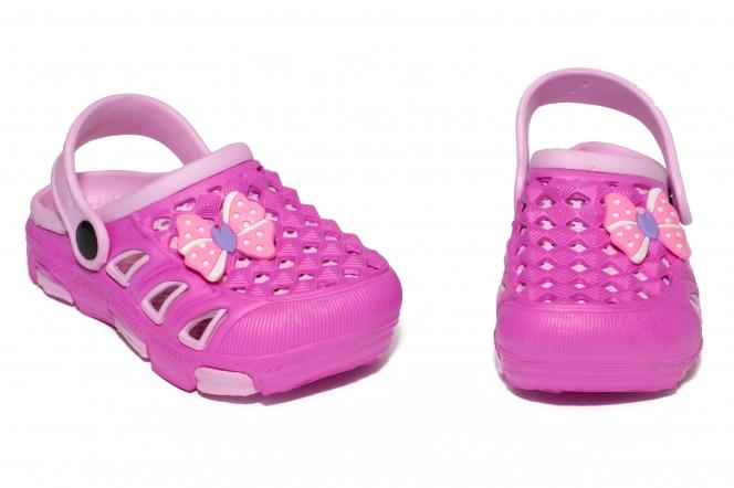 Papuci fete de plaja crocs 5668 roz 18-35