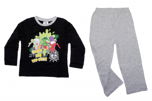 Pijamale copii 1254 gri negru 2-10ani