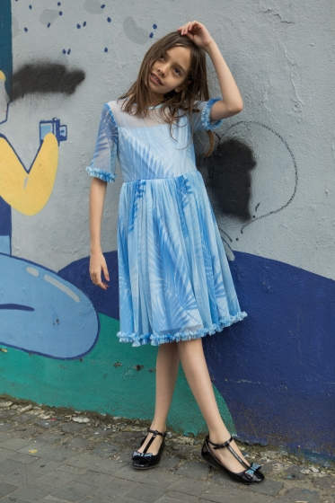 Rochii fete Hey Princess 02.01 bleu 1-12ani