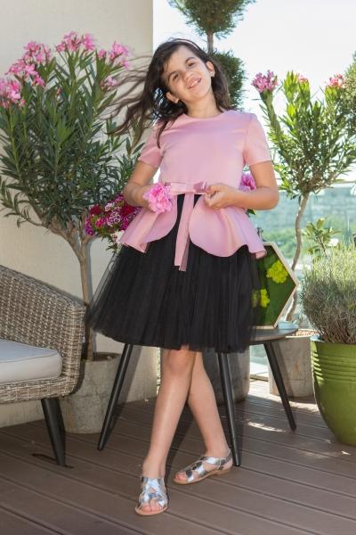 Rochii fete elegante hey princess 01.200 roz negru 3luni-12ani