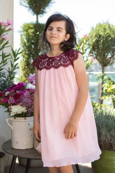 Rochii fete hey princess 01.201 roz 3luni-12ani