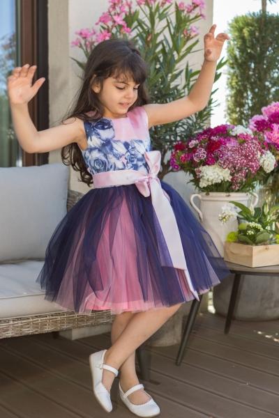 Rochii fete hey princess 111.02 trandafiri roz mov 3luni-12ani