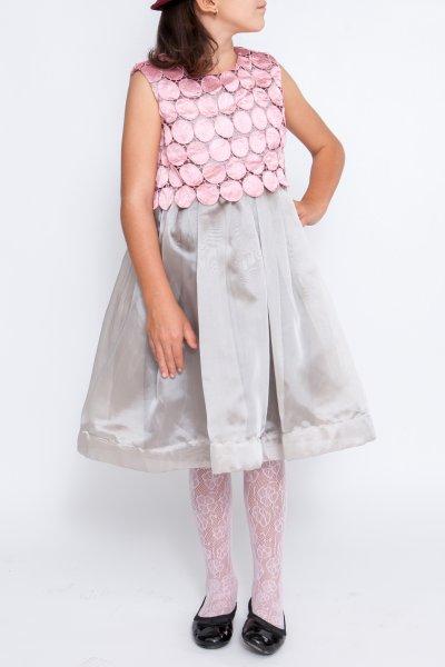 Rochii fete luna hey princess 243.01 gri roz 3luni-12ani