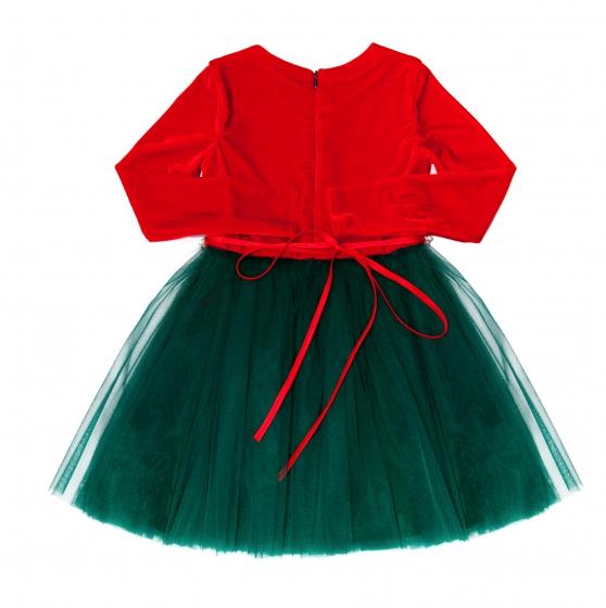 Rochita fete Merry Christmas 143.04 rosu verde 2-12ani