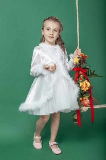 Rochite fete AndreeaTex Craciunite alb 3-10ani
