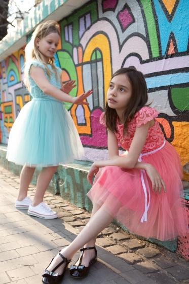 Rochite fete Hey Princess 111.03 turcoaz 1-12ani