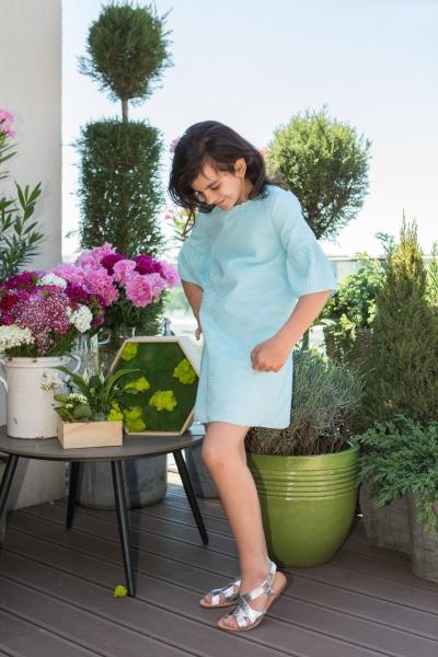 Rochite fete hey princess Crizantema 01.30 albastru 3luni-12ani