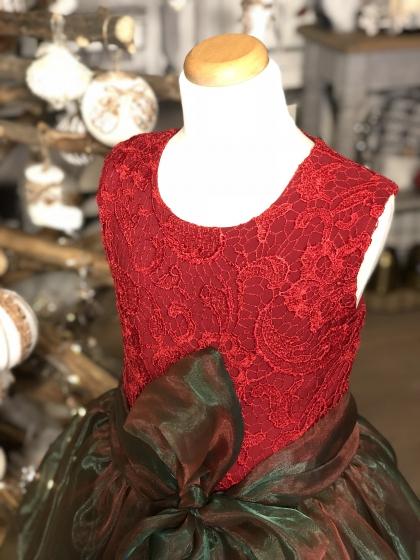 Rochite fete hey princess Organza Lace Christmas rosu verde 3luni-12ani
