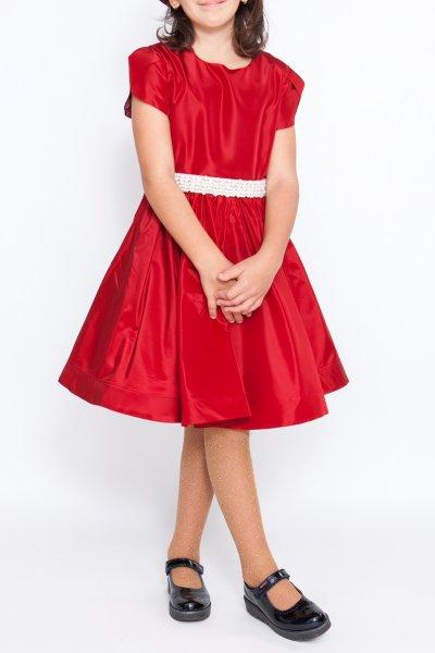 Rochite fete rosie cu perle hey princess 135.02 rosu 3luni-12ani