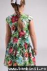 Rochite fetite 1509 cu imprimeu floral 3-10ani