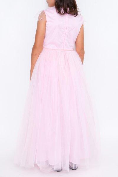 Rochite printese fetite hey Princess 241.01 roz cu perle 3luni-12ani