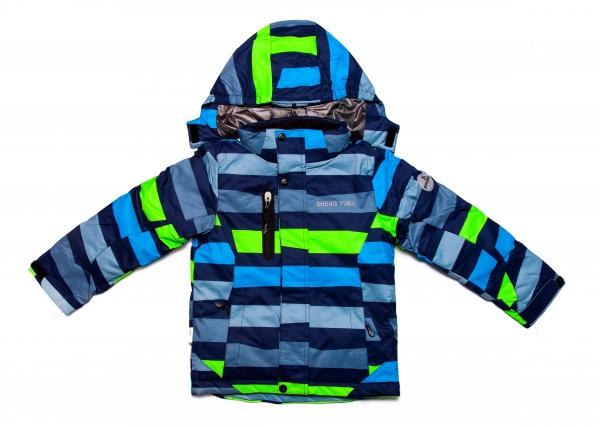 Salopete copii ski HT011 verde albastru gri 104-152cm