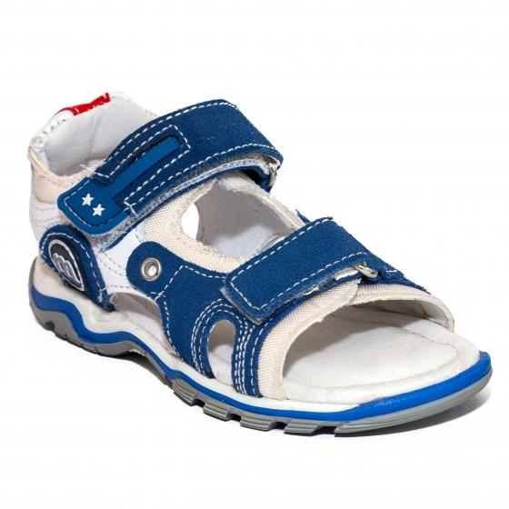 Sandale baieti Melania 4109 albastru alb 25-35