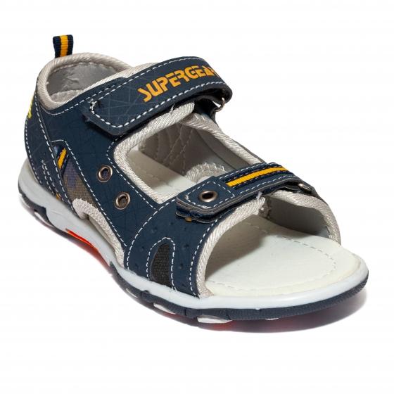Sandale baieti brant din piele 1607 negru 30-35