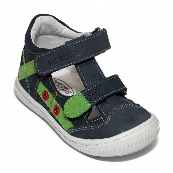 Sandale baieti flexibile hokide 386 blu verde 18-25