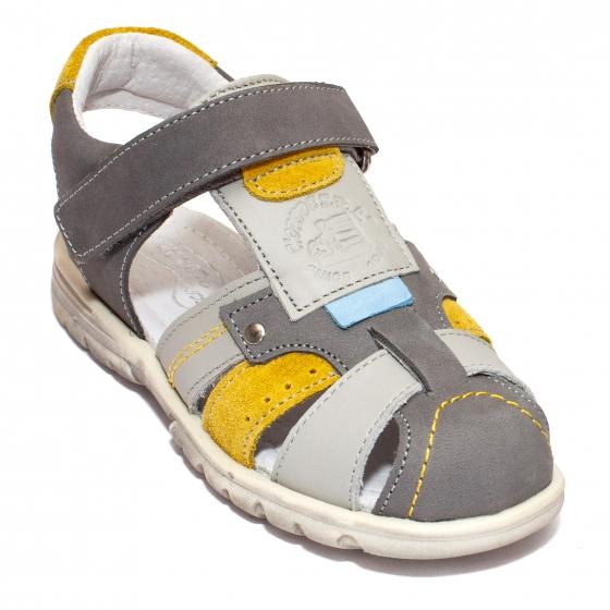 Sandale baieti hokide 407 gri galben 28-32