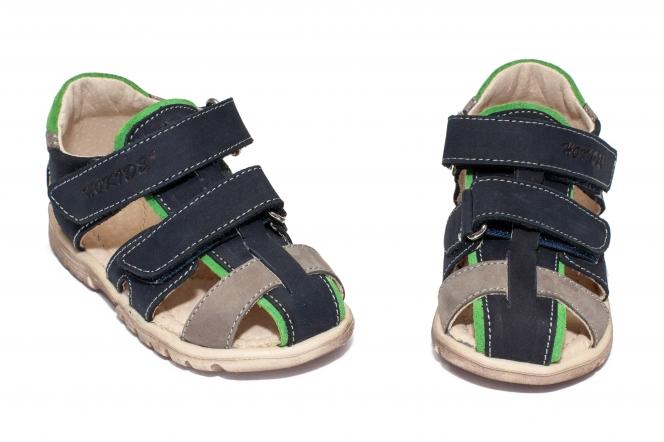Sandale baieti picior lat hokide 357 blu verde 22-32