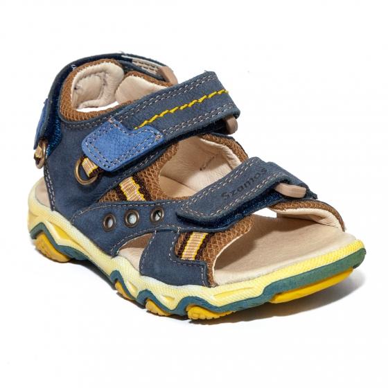 Sandale baieti piele Szamos 6285 blu rosu 26-35