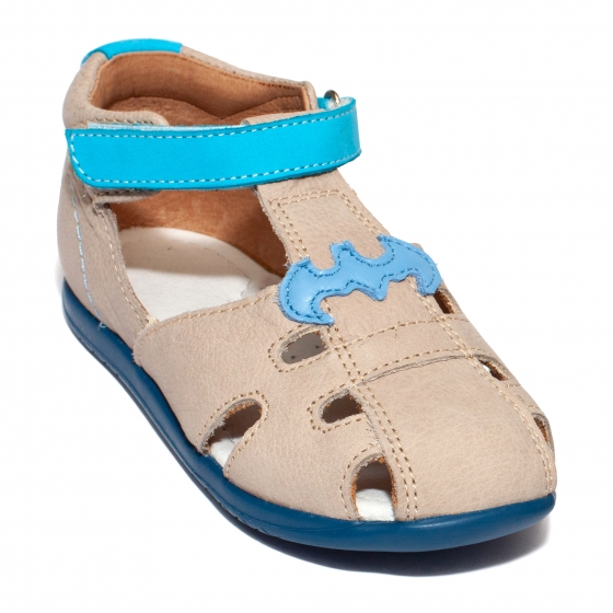 Sandale baieti piele avus AV28 cafe turcoaz 18-30