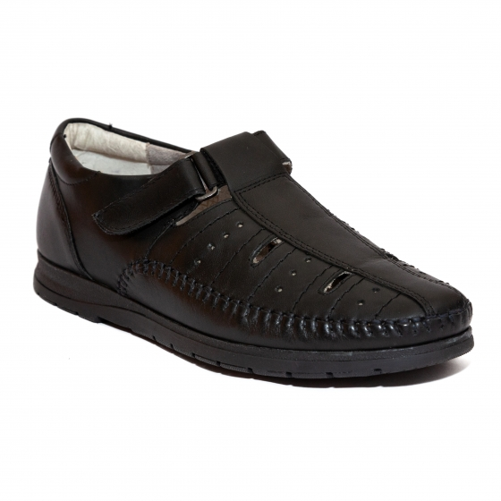 Sandale barbat piele naturala 302R05 negru 40-46