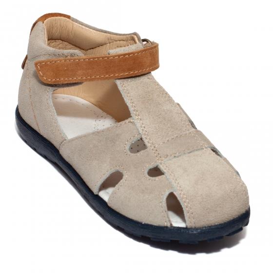 Sandale copii avus din piele 2662 cafe 18-30
