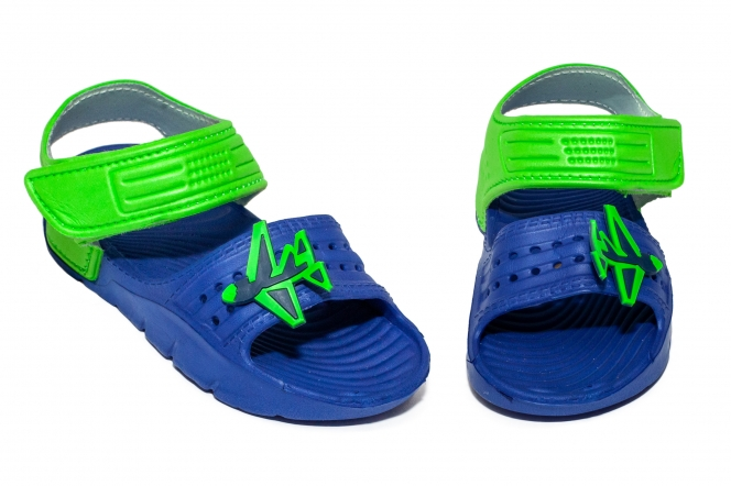 Sandale copii din plastic 1581 albastru verde 24-30
