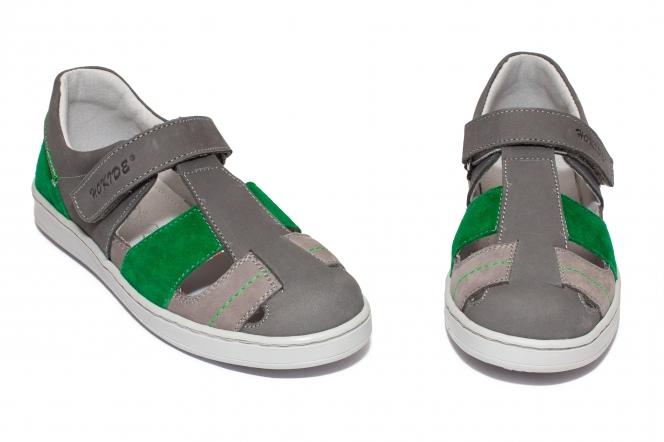 Sandale copii hokide 422 gri verde 26-35