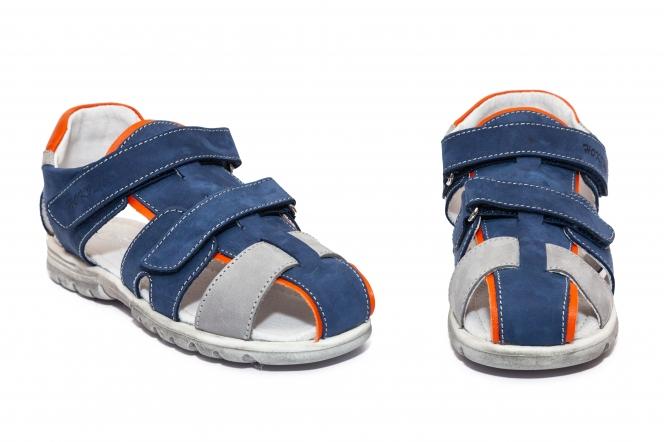Sandale copii hokide picior lat 357 albastru port 22-32