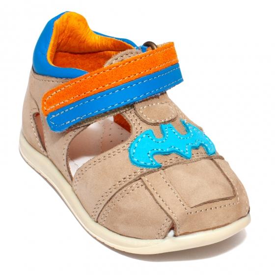 Sandale copii piele avus AV28 cafe 18-30