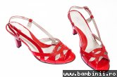 Sandale dama cu toc 576 rosu lac 34-41