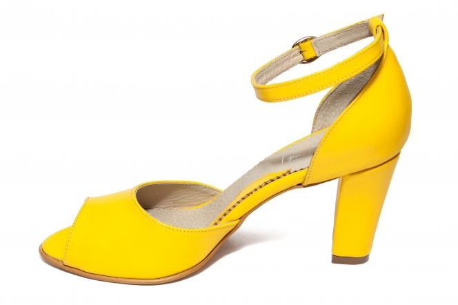 Sandale dama cu toc 952 galben 33-40