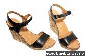 Sandale dama piele Tisa 387 negru 35-41