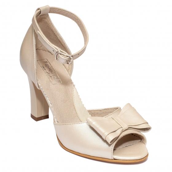 Sandale dama piele 952 bej sidef 33-41
