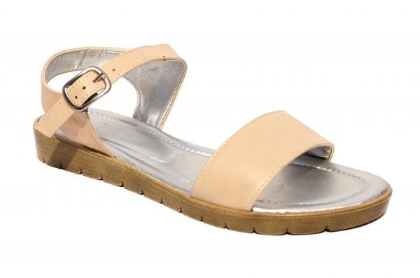 Sandale domnisoare piele naturala 222 blu 36-41
