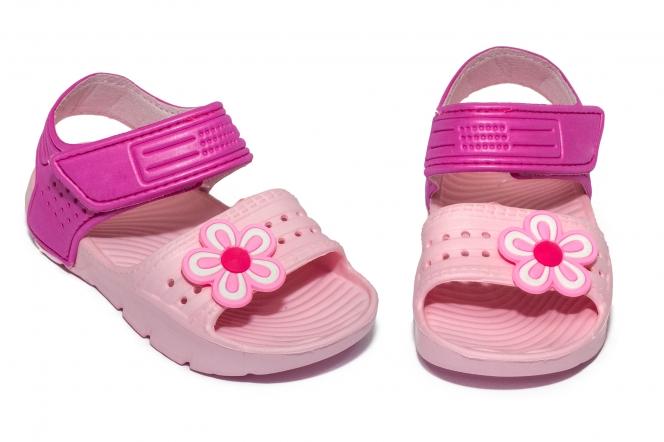 Sandale fete din plastic 1581 roz 24-30