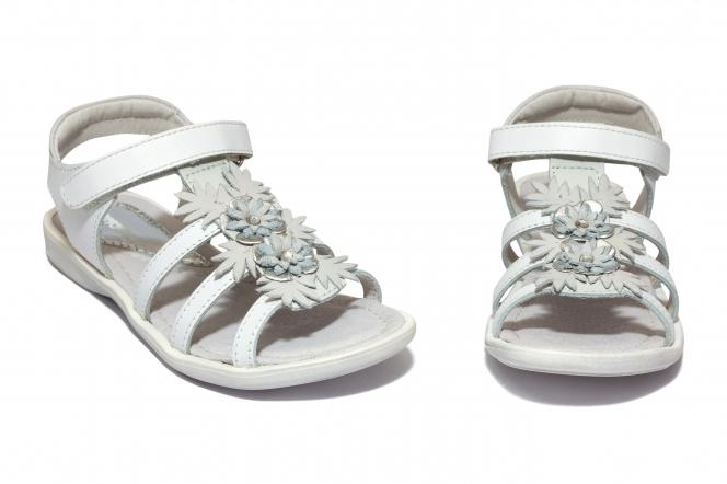 Sandale fete hokide 424 alb flori 26-32