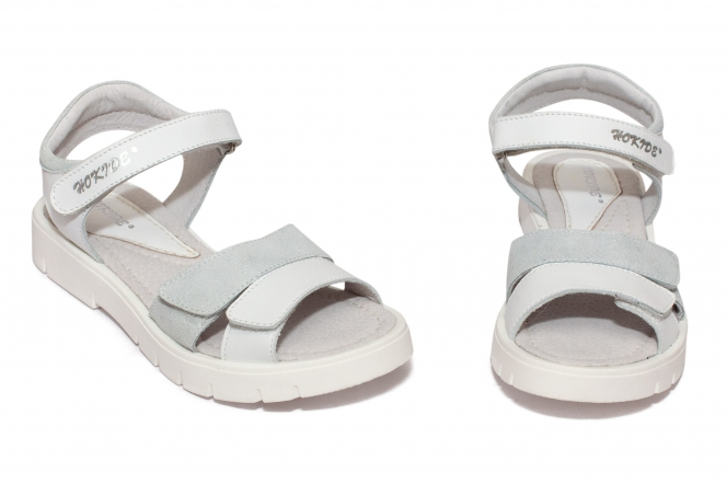 Sandale fete hokide 435 alb arg 26-35