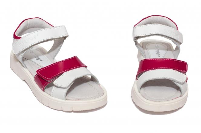 Sandale fete hokide 435 alb fuxia 26-35