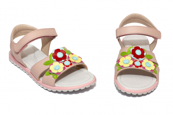 Sandale fete piele avus AV29 roz 24-34
