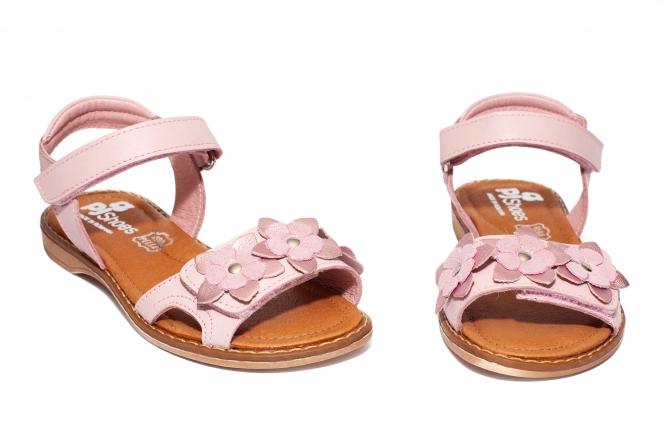 Sandale fete piele pj shoes Ana roz pal 27-36