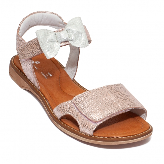 Sandale fete pj shoes Ana alb print 27-36