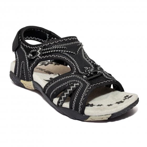 Sandale sport domnisoare 557 negru fuxia 36-41