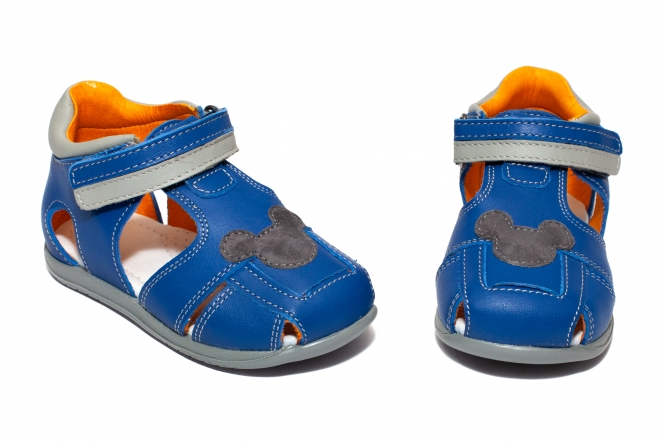 Sandalute baieti avus din piele AV22 albastru miky 20-30