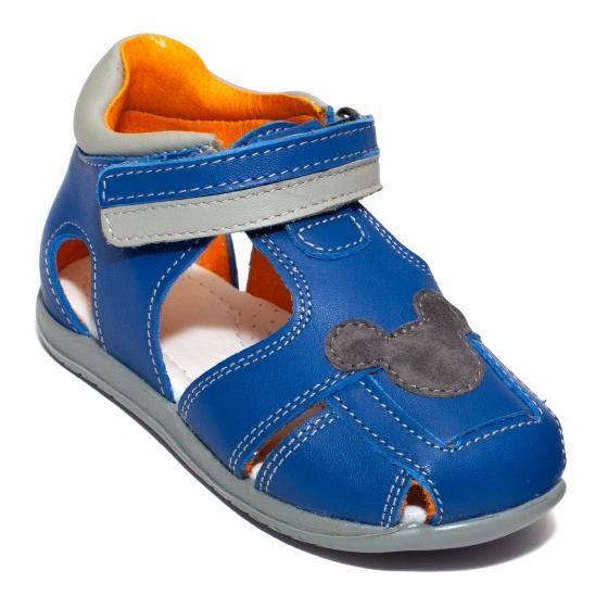 Sandalute copii avus din piele AV23 cafe miky 20-30