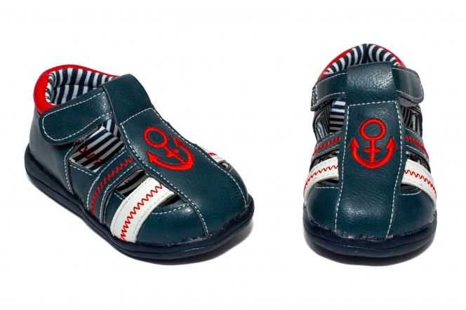 Sandalute baieti flexibile 1597 blu rosu 19-24