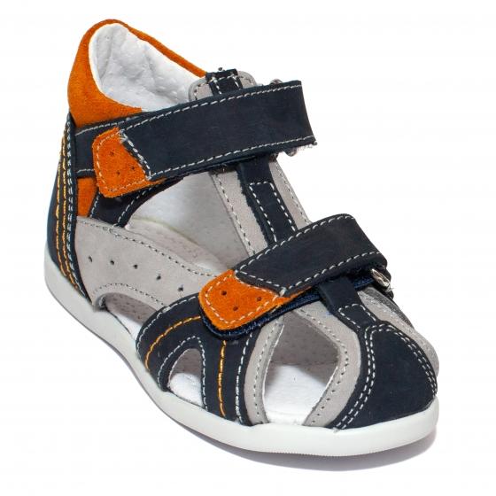 Sandalute baieti hokide picior lat 311 blu gri port 18-25
