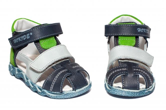 Sandalute baieti hokide picior lat 405 blumarin gri verde 18-27