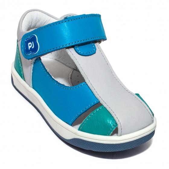 Sandalute baieti pj shoes Pablo albastru gri 18-26