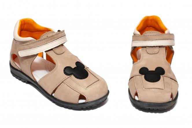 Sandalute copii avus din piele AV23 cafe neg miky 20-30
